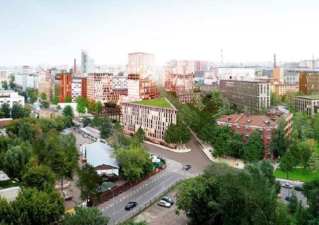 Архитектурно-градостроительная концепция территории завода «Серп и молот». © MVRDV & ПРОЕКТУС & LAPLAB
