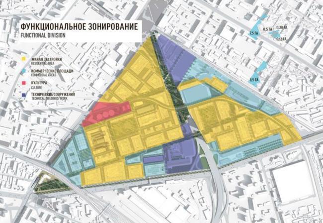 Архитектурно-градостроительная концепция территории завода «Серп и молот». © MVRDV Proektus & LAPLAB