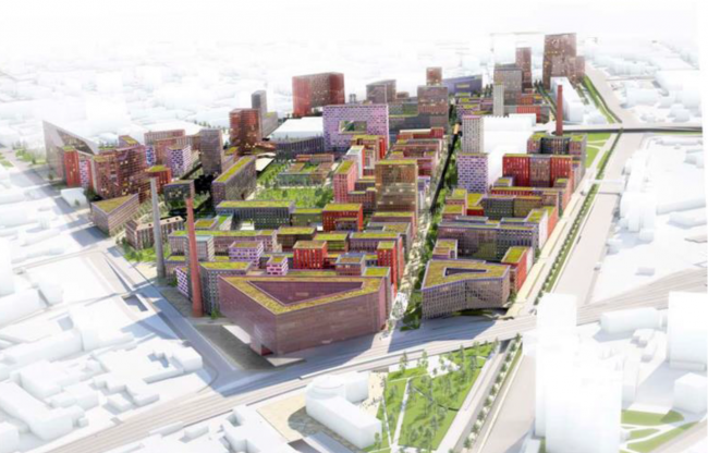 """Architectural and town planning concept of developing the territory of """"Serp i Molot"""" factory © MVRDV & AM PROEKTUS & LAPLAB"""