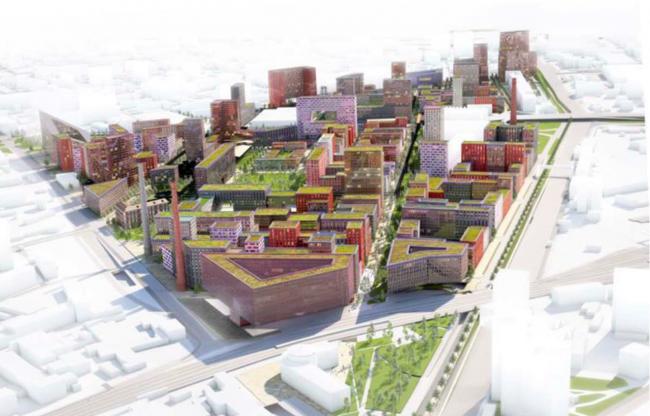 Архитектурно-градостроительная концепция территории завода «Серп и молот». © MVRDV & АМ ПРОЕКТУС & LAPLAB