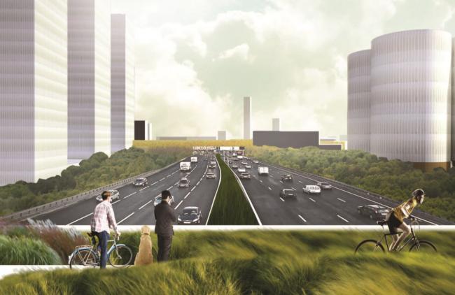 Архитектурно-градостроительная концепция территории завода «Серп и молот». © Проект Меганом