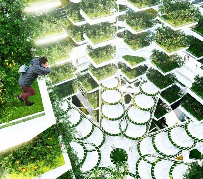 Проект Urban Skyfarm – вертикальная ферма. Компания Aprilli Design Studio