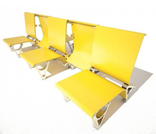 Кресла для железнодорожного вокзала. Виктор Ковтун