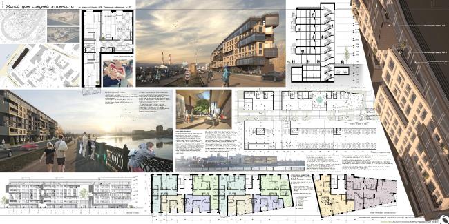 Проект доходного дома на Саввинской набережной. Полина Явна
