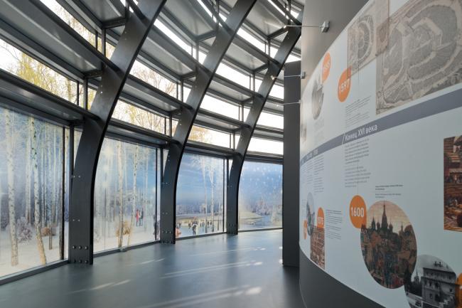 "Information pavilion of ""Zaryadye"" Park. Photo by Ilia Ivanov."