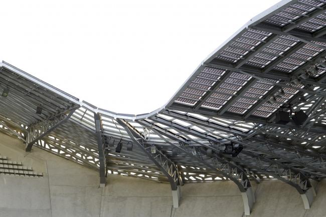 Стадион «Жан Буэн» © Olivier Amsellem. Предоставлено Agence Rudy Ricciotti