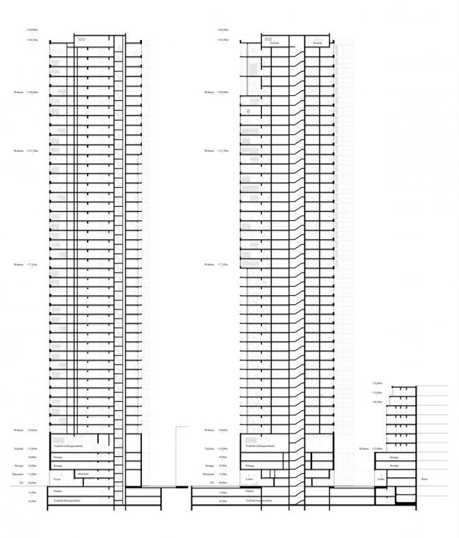 3-е место. Проект Astoc и Lorber & Paul Architekten. Изображение предоставлено организаторами конкурса