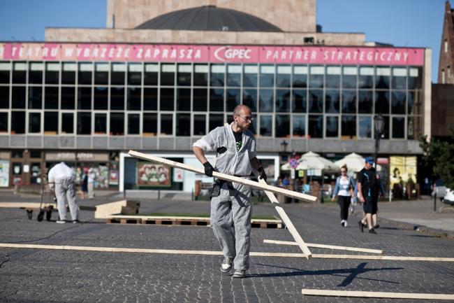 Площадь Тарг Венглевы в процессе реконструкции © Dominik Werner