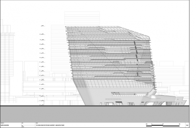 Корпус Jockey Club Innovation Tower Гонконгского политехнического университета © Zaha Hadid Architects