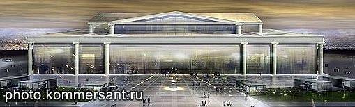 Проект Риккардо Бофилла, победивший на закрытом конкурсе на идею конгресс-центра в Стрельне
