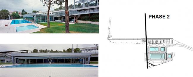 Вторая фаза: бассейн. 2006-2009. Реконструкция муниципального спортивного комплекса в Эль Папийол. Фрагмент презентации Никола Рагуши