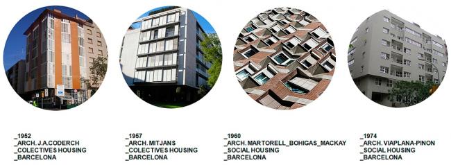 Иллюстрация  Никола Рагуши к рассказу о выставке «Барселона. Социальное жилье в городском контексте». Фрагмент презентации Никола Рагуши
