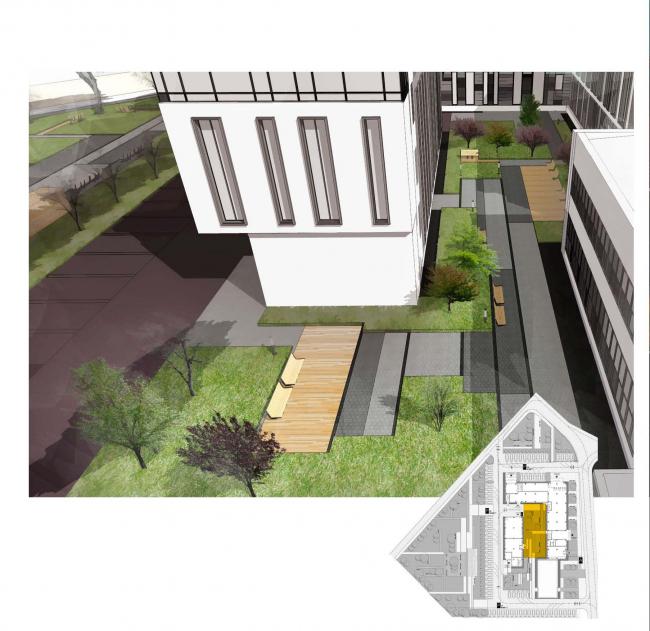 Предварительная архитектурно-градостроительная концепция реконструкции офисного здания на проспекте Вернадского © Т+Т Architects
