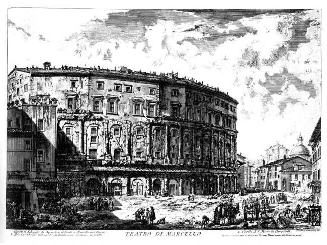 Театр Марцелла. Гравюра Дж. Б. Пиранези. 1774