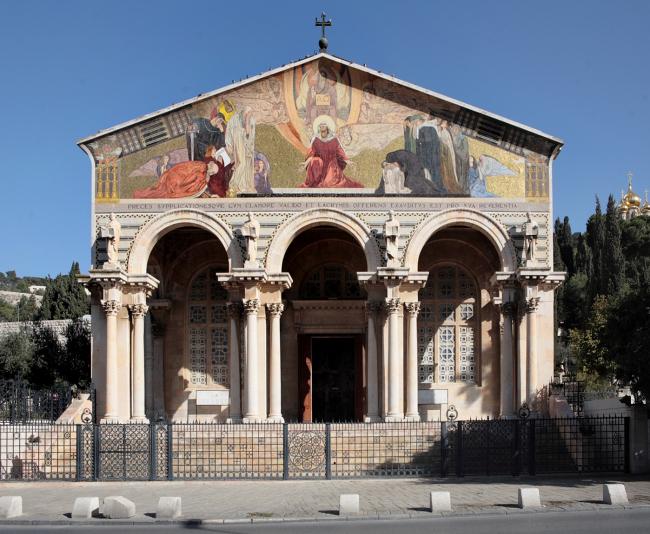 Фасад церкви всех наций. Фотография Л.К. Масиеля Санчеса