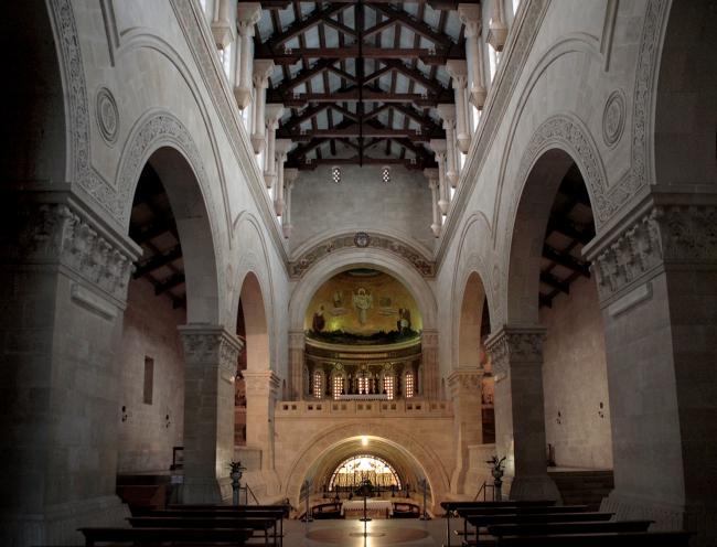 Базилика на Фаворе, интерьер. Фотография Л.К. Масиеля Санчеса