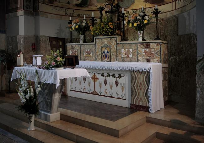 Интерьер верхней церкви в Айн-Кареме. Фотография Л.К. Масиеля Санчеса