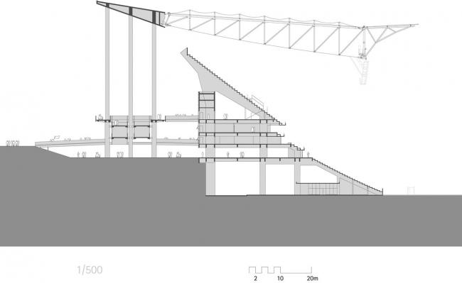 Национальный стадион Бразилии «Манэ Гарринча» © gmp Architekten