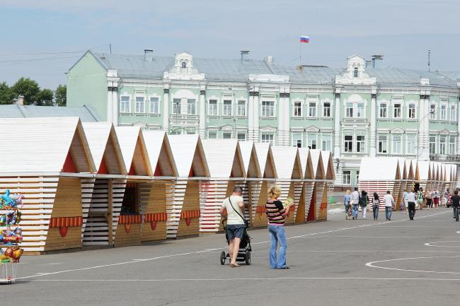 Номинация «Дизайн городской среды». Выбор народа–«Модульная ярмарка» Михаила Приемышева. Фотография Михаила Приемышева.