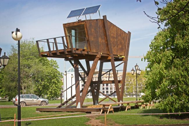 По версии жюри в рубрике «Дизайн городской среды» победил МикроЛофт  Ивана Овчинникова (BIO-architects). Фотография Ивана Овчинникова.