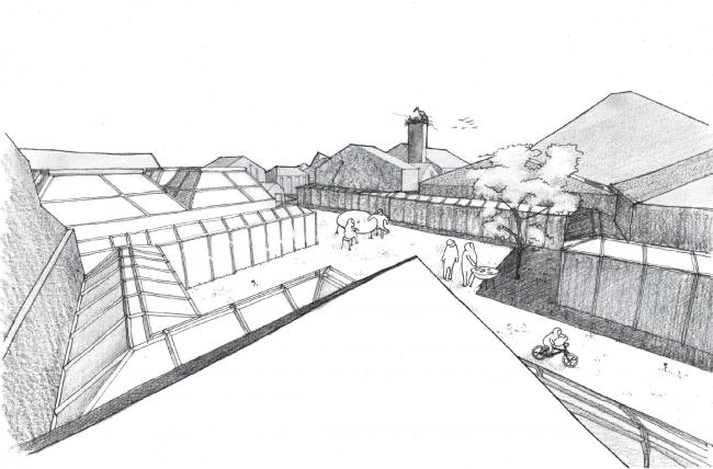 Работа бюро Megabudka. Дача во дворе. Иллюстрация предоставлена организаторами.