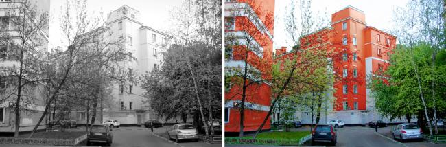 Историческая застройка в Шаболовском районе