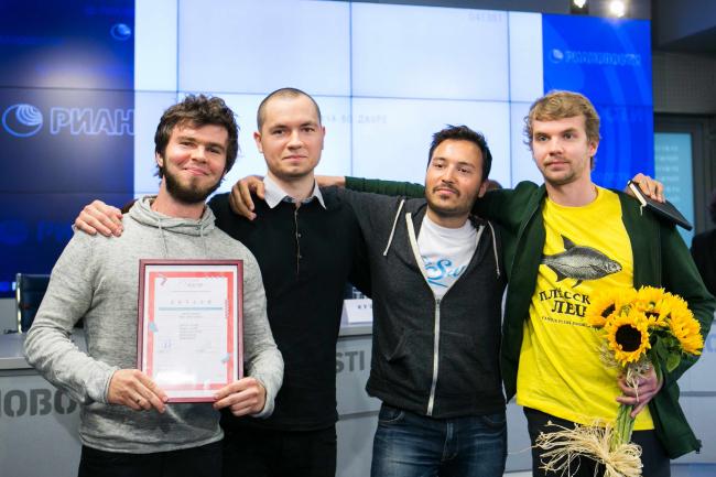 Победители конкурса «Русский характер», архитекторы бюро Megabudka. Фотография предоставлена организаторами
