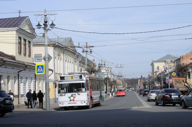 Троллейбус на Большой Московской. Фотография vladimir-city.blogspot.ru