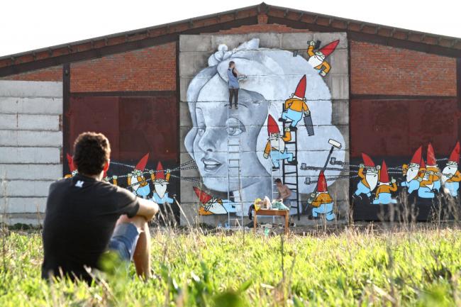 Граффити на АрхФерме. Фотография предоставлена Иваном Овчинниковым