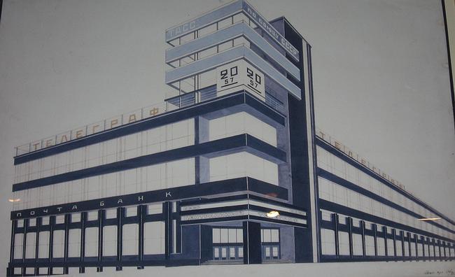 А. Щусев. Конкурсный проект здания Центрального Телеграфа в Москве. 1925 г.