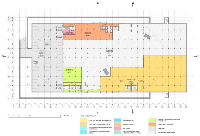 Первый уровень / Концепция реконструкции бассейна «Лужники», ДНК аг.