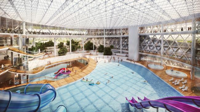 Интерьер аквапарка / Концепция реконструкции бассейна «Лужники», ДНК аг.