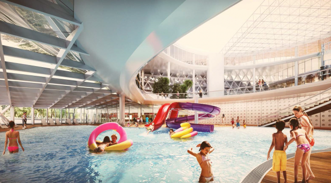 Проект реконструкции бассейна «Лужники» © Архитектурная группа ДНК