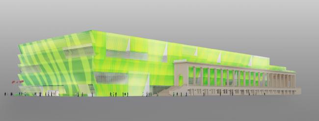 Проект реконструкции бассейна «Лужники» © А-Б студия