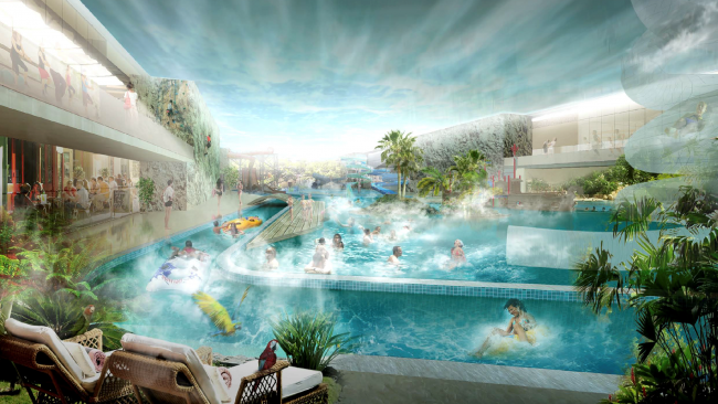 Проект реконструкции бассейна «Лужники» © Архитектурное бюро Асадова
