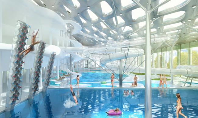 Проект реконструкции бассейна «Лужники» © Арх груп