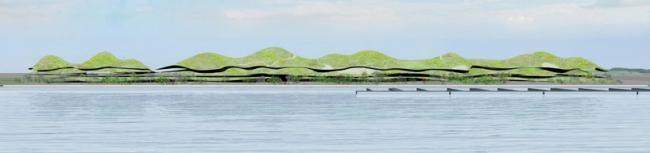 Пассажирский центр в порту Цзиньмэнь © Junya Ishigami + Associates & Bio Architecture Formosana Architecture