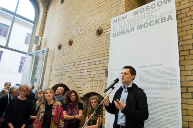 Сергей Кузнецов на открытии выставки  «New Moscow – Новая Москва» © Patricia Parinejad