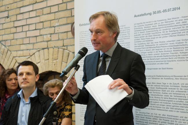 Райнер Нагель на открытии выставки  «New Moscow – Новая Москва» © Patricia Parinejad