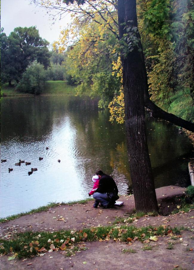 Вид на Головинский пруд в современном Лефортово. Материалы из Атласа Лефортовского парка