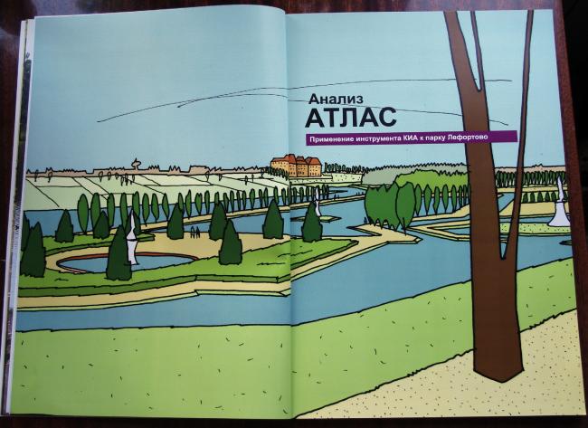 Разворот Атласа Лефортовского парка