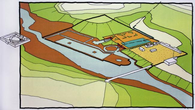 Водная структура парка Лефортово. На территории всего 9 прудов, 5 из них заложил сам Бидлоо в 1723 г. Материалы Атласа Лефортовского парка