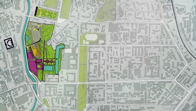 От исторического парка Бидлоо сохранились остатки прудов, аллей, видовые линии и др. Декоративные элементы практически полностью исчезли. Материалы Атласа Лефортовского парка