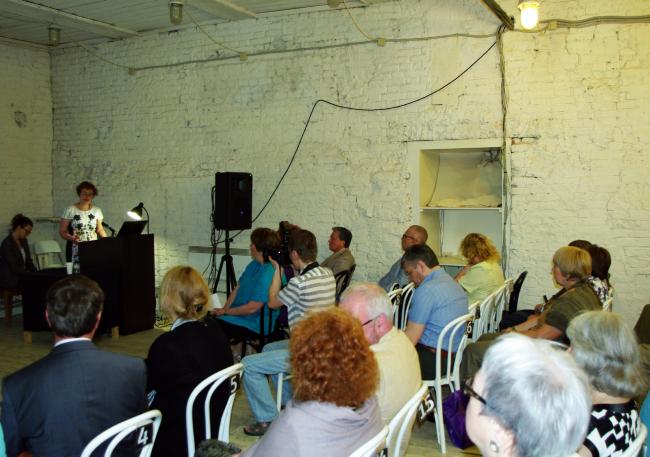 Конференция во флигеле «Руина» музея им. Щусева. Фотография А.Павликовой