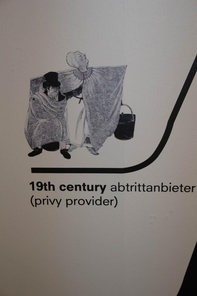 Раздел «Туалет». Одна из «Мадам Туалет», предоставлявших услуги платной уборной «вразнос» на улицах больших немецких городов в конце XVIII – середине XIX веков