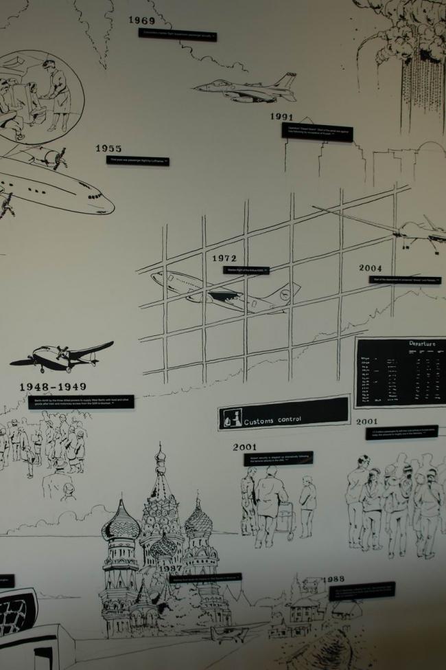 Выставка бюро gmp Too good. Two. Be true о аэропортах Тегеле и Берлин-Бранденбург © Нина Фролова