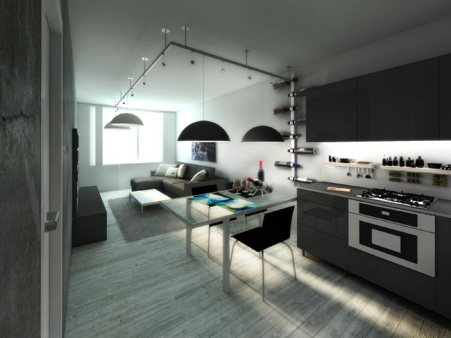 Вариант отделки квартиры. Жилой комплекс «Я-романтик» ©А-Лен