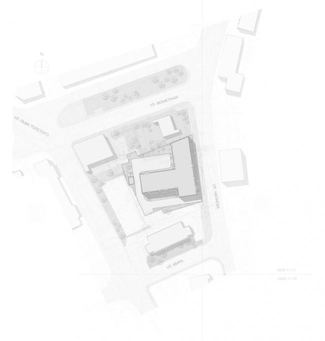 Жилой дом на улице Чапаева. Генеральный план © А.Лен