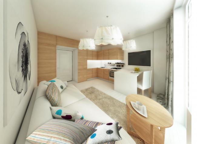 Пример отделки квартиры-студии. Жилой комплекс на Васильевском острове © «А.Лен»