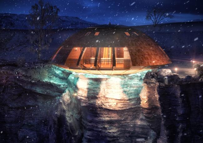 Вращающийся дом Domespace. ©www.domespace.ru